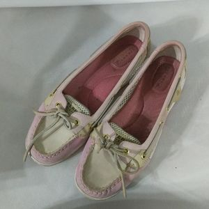 Sperry Top Siders Pink Angelfish Mesh - size 8